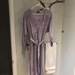 Anthropologie Distressed purple Romper/Jumper